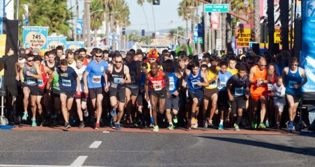 Start of the 5k PMCU O'side Turkey Trot 2014