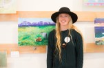 Annika Odeen, Senior at Valley Center High School. The student gallery wall was an outstanding addition to our museum exhibition. Photo Credit: Honey Photographs by Alyss
