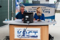 Jim Schroder and Kristi Hawthorne provided KOCT commentary at the 2015 parade (file photo)