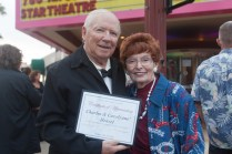 Charles and Carolynne Hensel were honored for their endless dedication to the Historic Star Theatre