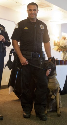 Officer Frank Wagner and Max