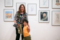 Kathryn Hewitt, artist, The Lives of series (Artists, Musicians, Scientists etc.) and her grandson, Arlo Photo: Honey Photographs by Alyss (click on image to enlarge photo)