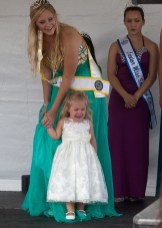 Baby Miss contestant Madison Nace with Miss Teen Oceanside Princess, Lauren Bell
