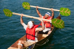 Nail and Sail champions Nick Winnemoeller and Anthony Michael on thier boat, Rum Scurvy