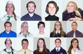 2015 Scholarship winners (click on image to enlarge photo)
