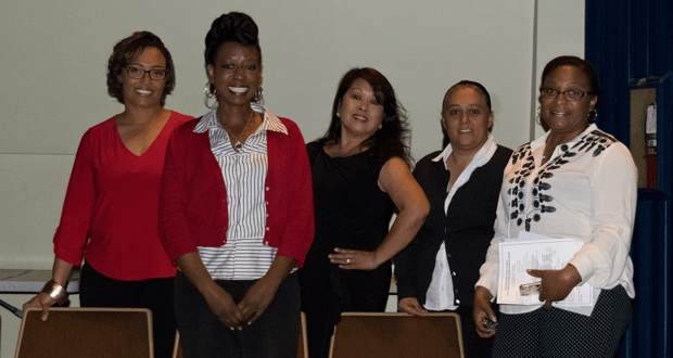 College Bound Oceanside Parent Board Members- Kewana Coleman - President, Lori Slater - Treasurer Imelda Agtarap - Vice President, Veronica Duenas - Secretary and Nadine Parks - Community Service Manager