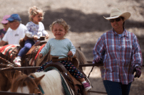 The pony ride wasn't as much fun as she had hoped for 16 month-old Emmie