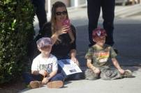 Michelle of Oceanside with her two boys, Ayden and Jaycob, that want to be police officers when they get older.