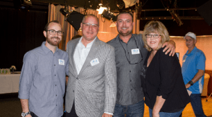 Left to Right—Aaron Capehart, KOCT Executive Assistant, Alex Karvounis, KOCT Board member, Jake Rush, KOCT Senior Producer and Gwen Price, KOCT Board member.