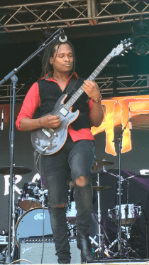 Raging Fyah's Kumar Bent performs at the Ninth Annual California Roots Music and Arts Festival in Monterey, California | Courtesy of Stephen A. Cooper