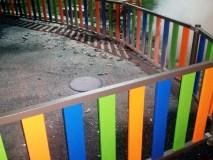 Queiman o novo parque infantil da Piscina Climatizada de Verín