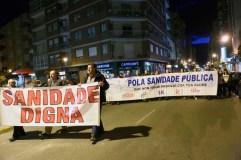 Manifestación en defensa da sanidade pública no Barco