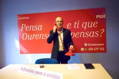 """O candidato socialista presenta a campaña """"Pensa Ourense"""""""