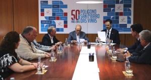 Empresarios do polígono de San Cibrao impulsan a seguridade laboral