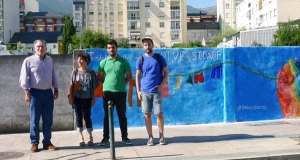 Mural reivindicativo das Xuventudes Socialistas do Barco a favor do colectivo LGTBI
