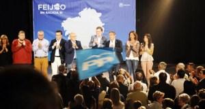 """Rajoy, no Carballiño: """"Feijóo gañou por incomparecencia de todos os demais"""""""