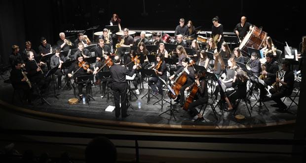 A Banda de Música do Barco, no acto do Día da Constitución en Ourense