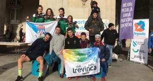 Membros do Peña Trevinca Barco, entre os mellores da liga galega de orientación a pé