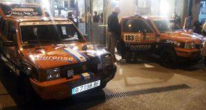 A escudería Ourense Aukor Team quenta motores para a Panda Raid en Marrocos