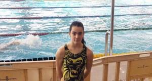 A nadadora ourensá Eva Feijóo, coa selección galega no campionato de España por Autonomías