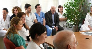 Primeira visita de Dionisio López ao hospital valdeorrés como novo xerente da EOXIourensá