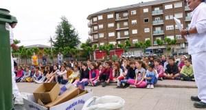 Lección sobre reciclaxe nos colexios Julio Gurriarán e Condesa de Fenosa do Barco