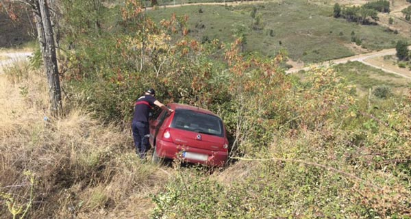 Un ferido leve nun accidente en Rubiá