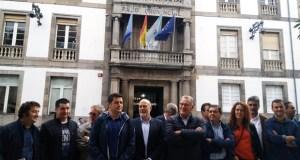 """Alcaldes e deputados do PSdeG e BNG protestan contra o financiamento municipal """"arbitrario"""" da Deputación"""