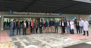 Representantes autonómicos e municipais visitan o novo edificio do CHUO
