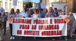 A Plataforma Sanitaria de Valdeorras, na manifestación de Monforte