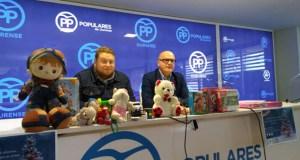 As Novas Xeracións do PP recadan media tonelada de xoguetes na súa campaña de Nadal