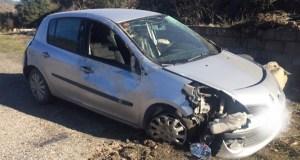 Accidente de tráfico con feridos en Carballeda de Valdeorras