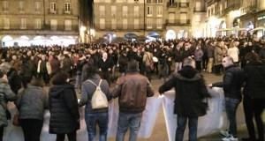 """Miles de persoas maniféstanse contra a """"privatización da Sanidade"""", en Ourense"""
