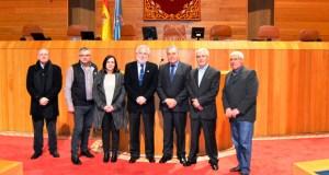 Unha delegación do Concello de Lobeira visita o Parlamento de Galicia