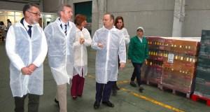 Rueda visita a empresa ourensá Aceites Abril