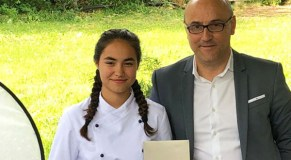 Sara González, alumna do Colexio Ferroviario, ganadora do concurso Children's Chef