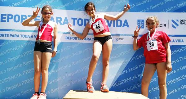 Os atletas do oriente ourensán brillan no campionato provincial escolar de Xogade