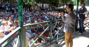 Xuntanza de Maiores no parque municipal do Carballiño