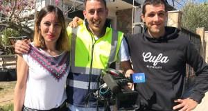A empresa valdeorresa de colocación de lousa CUFA, en televisión española