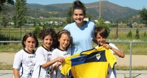 A seleccionadora ourensá sub 12 Alba Rodríguez, abre a segunda quenda do campus de fútbol na Rúa