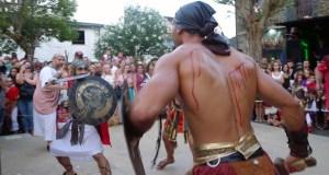 Vitoria castrexa na loita de gladiadores en Qui-Roma