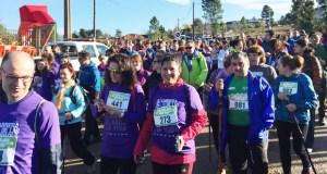 A multitudinaria I Carreira e Andaina das Cidades contra o cancro de páncreas de Vilamartín, en fotos