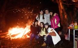 O lume das fogueiras ilumina Vilanova na Festa do Chourizo