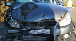 Dúas persoas feridas nun accidente de tráfico na N-120 en Rubiá