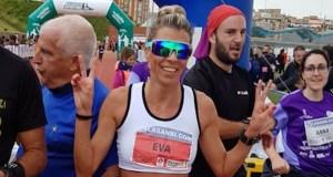 A atleta vilamartinesa Eva Arias, récord de España nos 2.000 m obstáculos W5