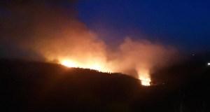 Incendio forestal en Pentes (A Gudiña)