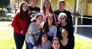 Un grupo de alumnos do IES Lauro Olmo, ganadores da 1ª fase do Rally Matemático sen fronteiras