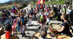 """As Mázcaras de Manzaneda, no """"Desfile dos Entroidos tradicionais de Galicia"""""""