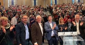 Os socialistas abren a campaña electoral en Ourense nun acto con Josep Borrell