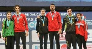 O atleta valdeorrés Alejo Ares (Adas), campión galego de milla en ruta
